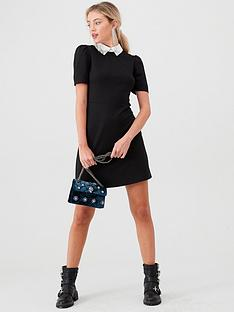 river-island-river-island-embellished-collar-mini-dress--black