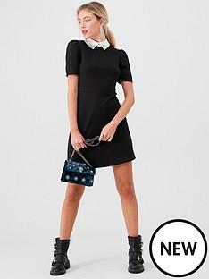 river-island-river-island-embellished-collar-mini-dress--black