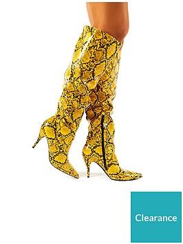 public-desire-nicole-knee-boot-mustard