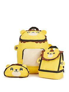 lion-backpacklunchbag-pencil-case-set