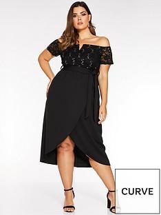 quiz-curve-quiz-curve-bardot-lacesequin-wrap-midi-dress