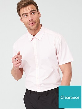 very-man-short-sleeved-easycare-shirt-pink