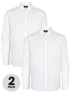 v-by-very-2-packnbsplong-sleeved-easycare-shirts-white