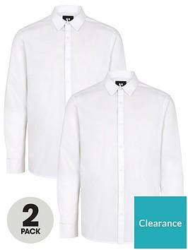 very-man-2-packnbsplong-sleeved-easycare-shirts-white