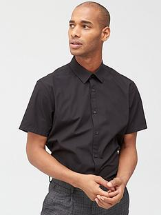 v-by-very-two-pack-short-sleeved-easycare-shirts-black