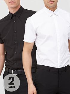 v-by-very-2-pack-short-sleeved-easycare-shirts-white