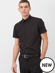 v-by-very-short-sleeved-easycare-shirt-black