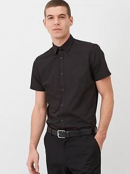 very-man-short-sleeved-easycare-shirt-black