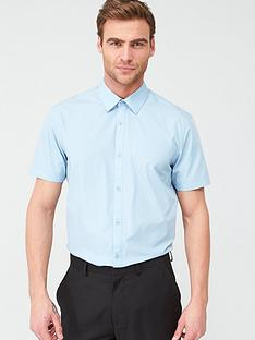 very-man-short-sleeved-easycare-shirt-blue