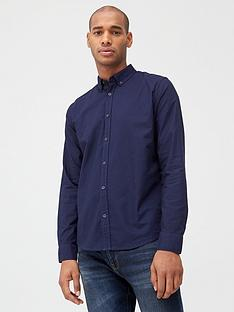 v-by-very-long-sleeved-button-down-oxford-shirt-navy