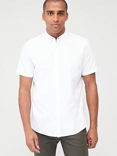 v-by-very-short-sleeved-button-down-oxford-shirt-white