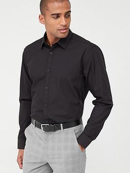 very-man-single-long-sleeved-easycare-shirt-black