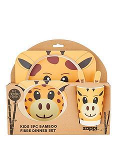 giraffe-bamboo-fibre-5-pc-dinner-set