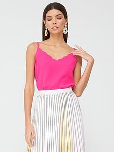 ted-baker-scallop-neckline-cami-top-pink