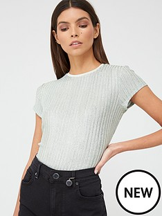 ted-baker-metallic-fitted-tee-mint