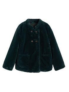 mango-girls-faux-fur-swing-coat-green
