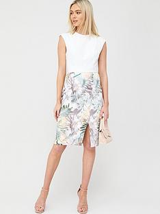 ted-baker-hanalee-woodland-jersey-dress-white