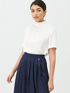 ted-baker-luniaa-high-neck-frill-detail-top-white