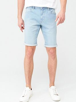 very-man-slim-denim-shorts-bleach