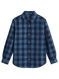 mango-boys-long-sleeve-check-denim-shirt-blue