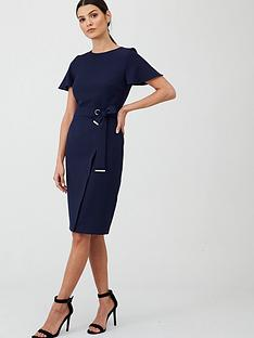 v-by-very-angel-sleeve-pencil-dress-navy