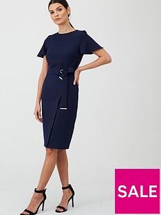v-by-very-angel-sleeve-pencil-dress-navy