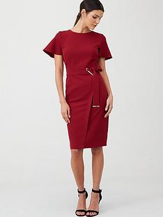 v-by-very-angel-sleeve-pencil-dress-berry