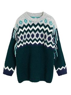 mango-girls-fairsile-tassel-knit-jumper-dark-green