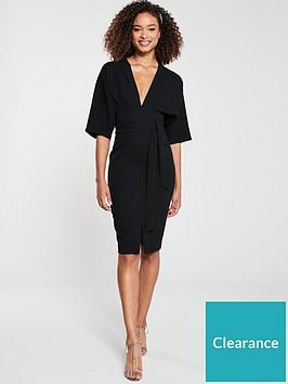 v-by-very-milana-kimono-sleeve-pencil-dress-black