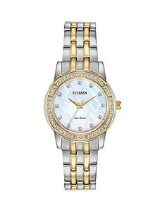 citizen-citizen-eco-drive-wr50-mother-of-pearl-and-gold-detail-crystal-set-dial-two-tone-stainless-steel-bracelet-ladies-watch