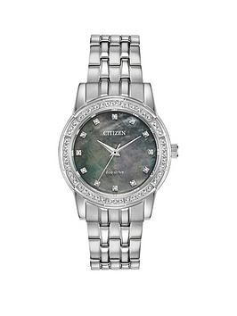 citizen-citizen-eco-drive-wr50-black-mother-of-pearl-crystal-set-dial-stainless-steel-bracelet-ladies-watch