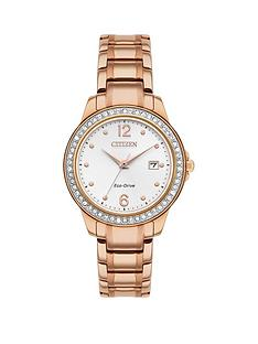 citizen-citizen-silver-sunray-and-crystal-set-date-dial-rose-gold-stainless-steel-bracelet-ladies-watch