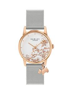 radley-ry4347-silver-floral-and-rose-gold-detail-dog-charm-dial-stainless-steel-mesh-strap-ladies-watch