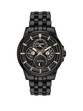 citizen-citizen-eco-drive-moonphase-wr100-black-and-gold-detail-dial-black-ip-stainless-steel-bracelet-mens-watch