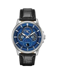 citizen-citizen-eco-drive-moonphase-wr100-blue-and-silver-detail-dial-black-leather-strap-mens-watch