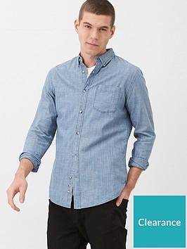 very-man-long-sleeved-slub-chambray-shirt-mid-blue
