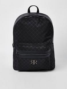 river-island-black-ri-monogram-backpack