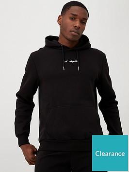 river-island-black-r96-slim-fit-hoodie