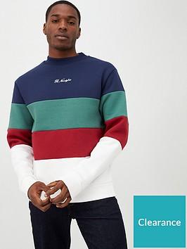 river-island-navy-r96-colour-block-sweatshirt