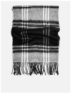 topshop-topshop-lightweight-check-scarf-monochrome