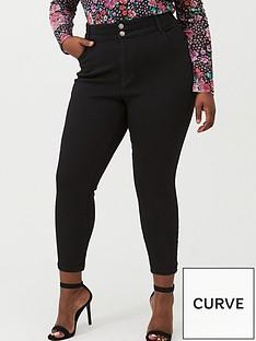 v-by-very-curve-back-yoke-panel-skinny-jean-black
