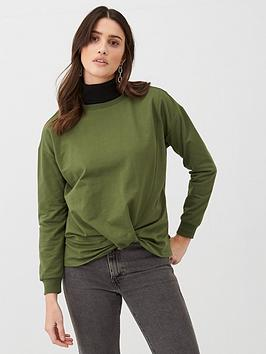 v-by-very-twist-hem-sweat-top-khaki
