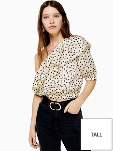 topshop-tall-spot-print-crop-top-monochrome