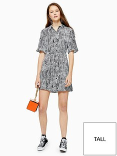 topshop-tall-animal-print-dress-monochrome