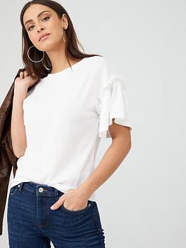v-by-very-textured-frill-sleeve-t-shirt-white