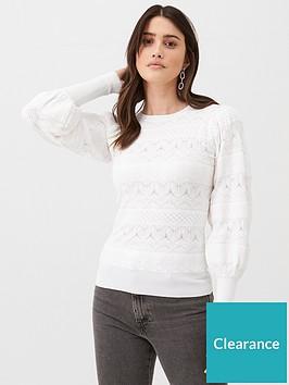 v-by-very-fine-gague-pointelle-jumper-white