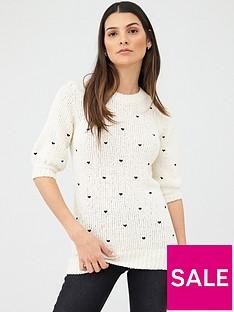 v-by-very-heart-embroiderednbspshort-sleeve-jumper