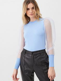 v-by-very-organza-puff-sleeve-jumper-pale-blue