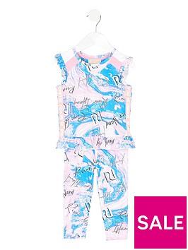 river-island-mini-mini-girls-active-marble-peplum-top-and-legging-set-pinkblue