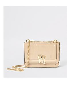 river-island-river-island-embossed-underarm-bag-cream